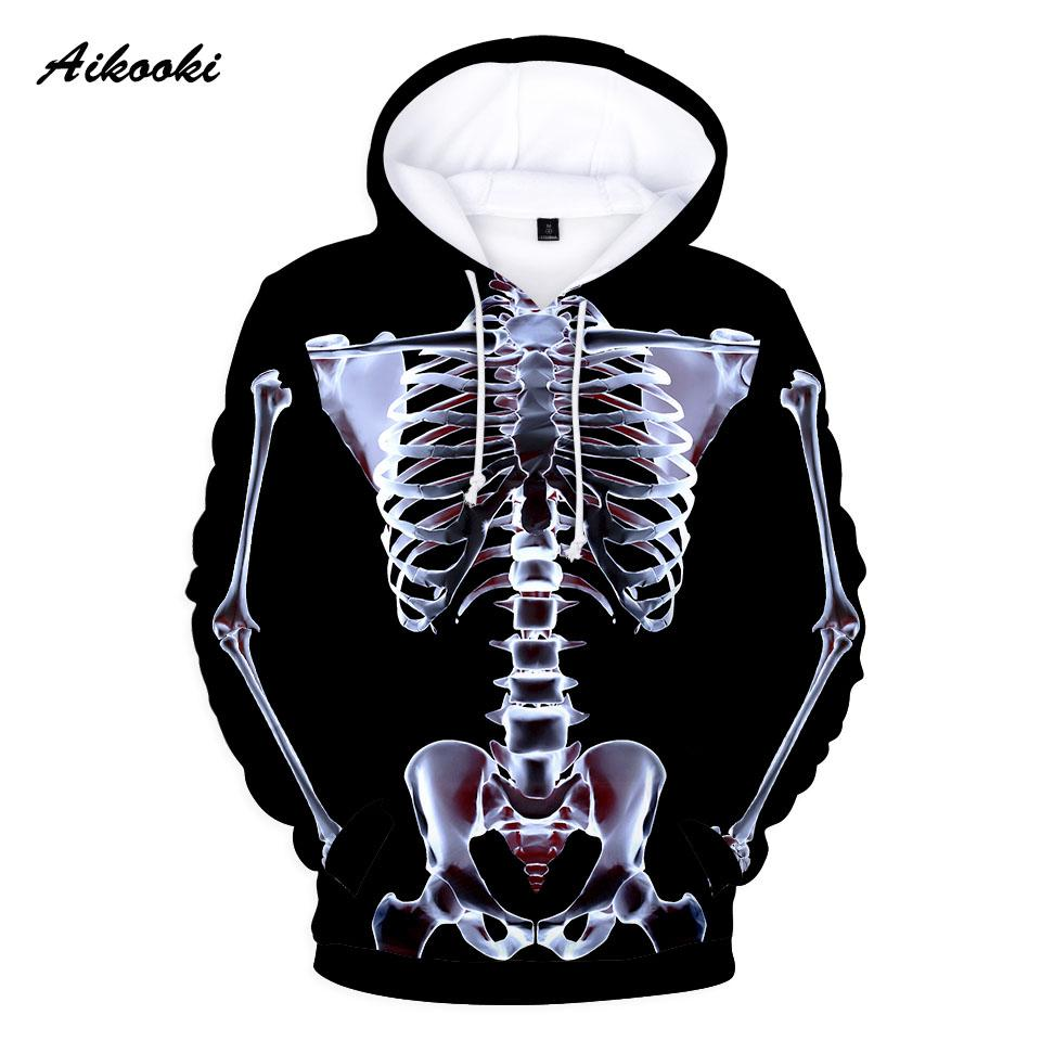65f06b0c4b21 2019 Aikooki 3D X Ray Perspective Hoodies For Men Women Graphic Skeleton  Skull 3D Print Halloween Boy Girl Hoodie Sweatshirts Coats From Primali
