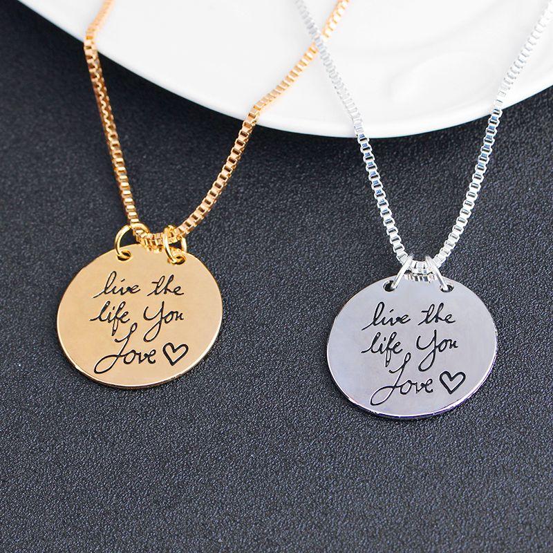 2019 nuovi gioielli di moda impara da ieri live oggi speranza domani lettera ciondolo collana regalo le donne i ZJ-0903217