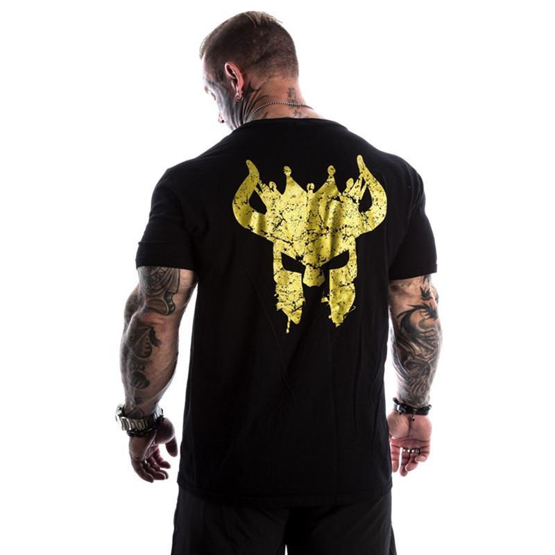 Compre Homens Nova Moda Casual Camiseta Crossfit De Musculação De Fitness  Masculino Mangas Curtas Slim Fit Camisas De Algodão Impresso Tee Tops De  Octavi 8c74e37d4c9
