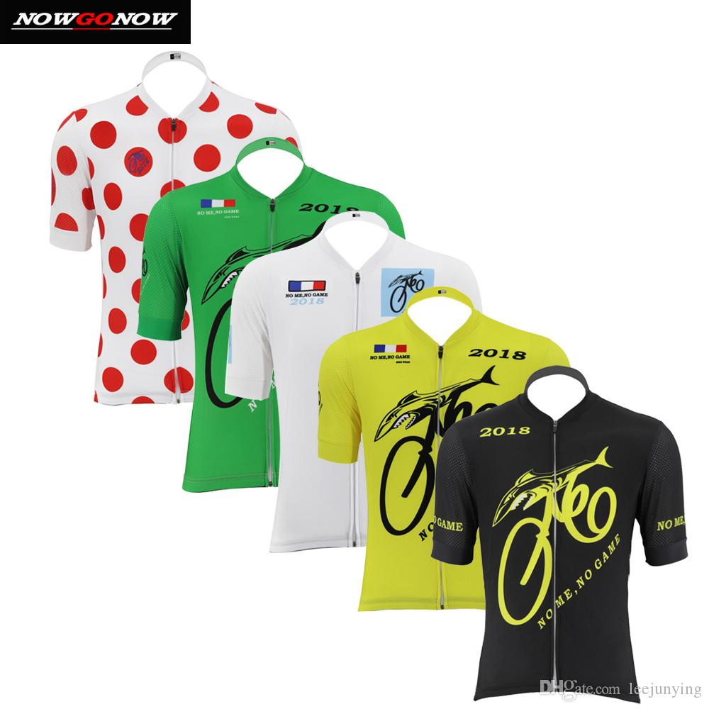 NOWGONOW 2018 Cycling Jersey Men Black Yellow Red Green White Bike Clothing  Wear Silicone Cuffs with Reflective Strips Road Mtb Team Tops Cycling  Jersey Men ... f48773191