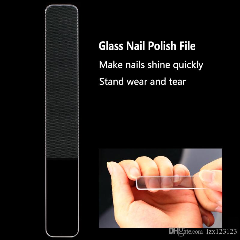 Glass Nail File Buff For Nails Polish Manicure Durable Crystal File ...