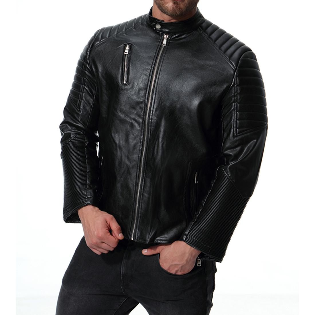 8b05f38c 2019 Mens Leather Jackets Men Jacket High Quality Classic Motorcycle Bike  Plus Size Cowboy Jackets Male Warm Thick Coats J181056 From Janet1221, ...