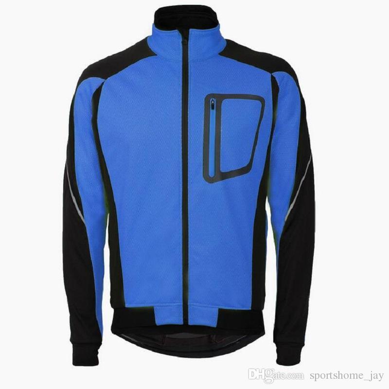 2018 Herren Ropa Ciclismo Fahrradjacken Winddicht Wasserdichter Mantel Warm halten Grün Blau Rot Schwarz Winter Fahrradbekleidung