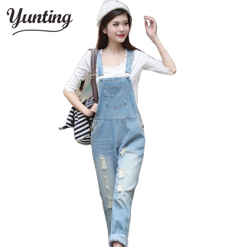 2019 New Womens Casual Washed Jeans Denim Jumpsuit Romper Pencil