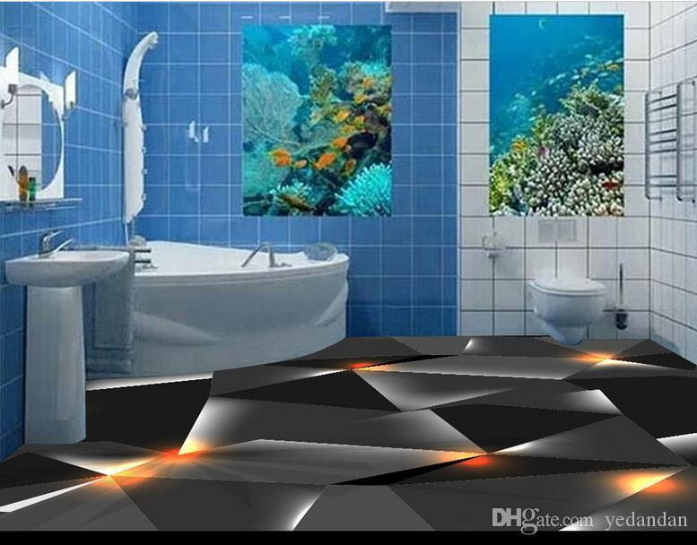 3d Fußboden Material ~ Großhandel pvc selbstklebende tapete d boden schwarze farbe feste