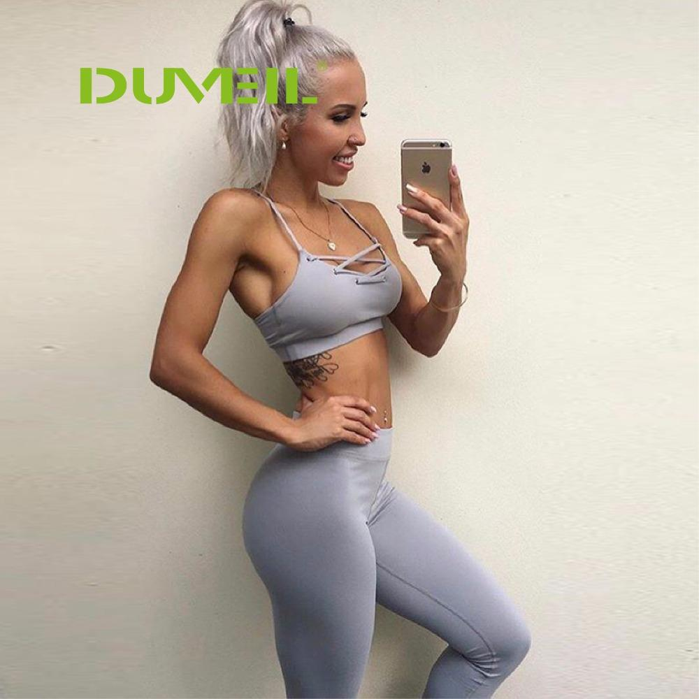 d750b02f94 2019 Sexy Moisture Absorption Sweating Yoga Fitness Suit Women Vest+Yoga  Pants Backless Yoga Set Bodybuilding Gym Running Sportswear From Rainlnday
