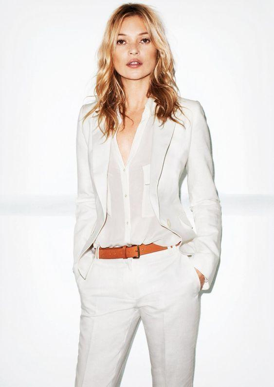 20ba884216cf 2019 Spring Summer Women Slim Fit White Pants Suit For Business Formal Wear  Uniform Ladies Office Work Wear Casual Outfit Set W178 From Edmund02