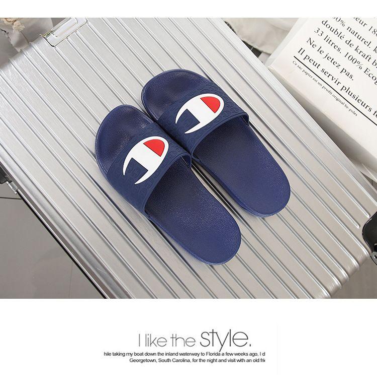 d4c38f7c6b74 New Brand Designer Summer Beach Slippers High Quallity Soft Couple ...