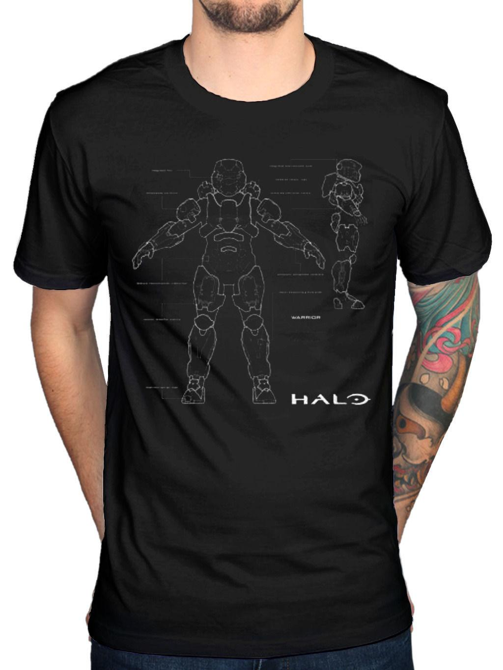 Official Halo 5 Anatomy T Shirt Team Chief Forerunners Spartans X