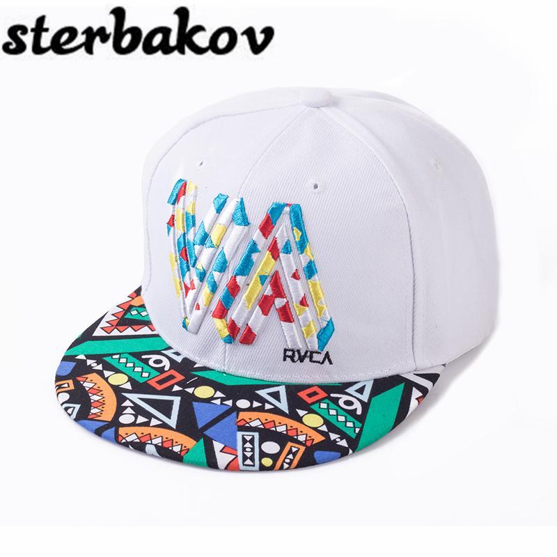1b5e055c361 2017 Fashion Unique Personality Color Graffiti Snapback Caps Flat Hip Hop  Cap Baseball Hats For Men And Woman Snapbacks Casquet Skull Caps Men Hats  From ...