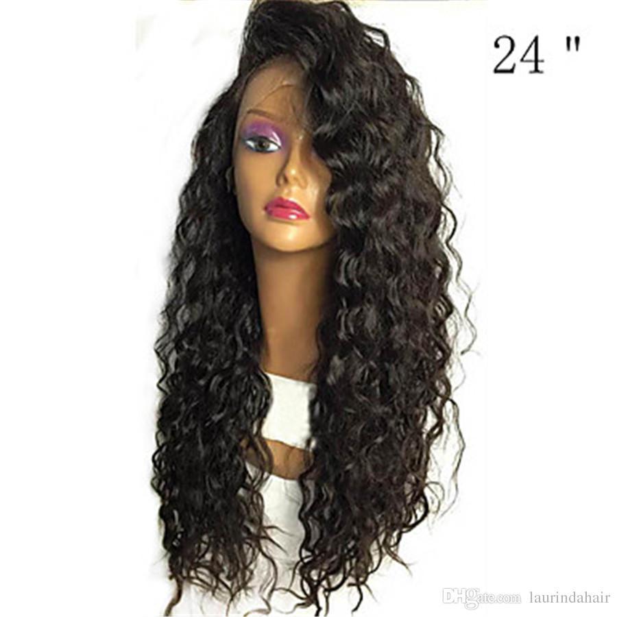 Menschenhaar-Spitzefrontseitenperücke-brasilianisches Haar lockig 130% Dichte mit dem Baby-Haar glueless für schwarze Frauen-natürlicher Haarstrich-Kurzschluss-Medium lang