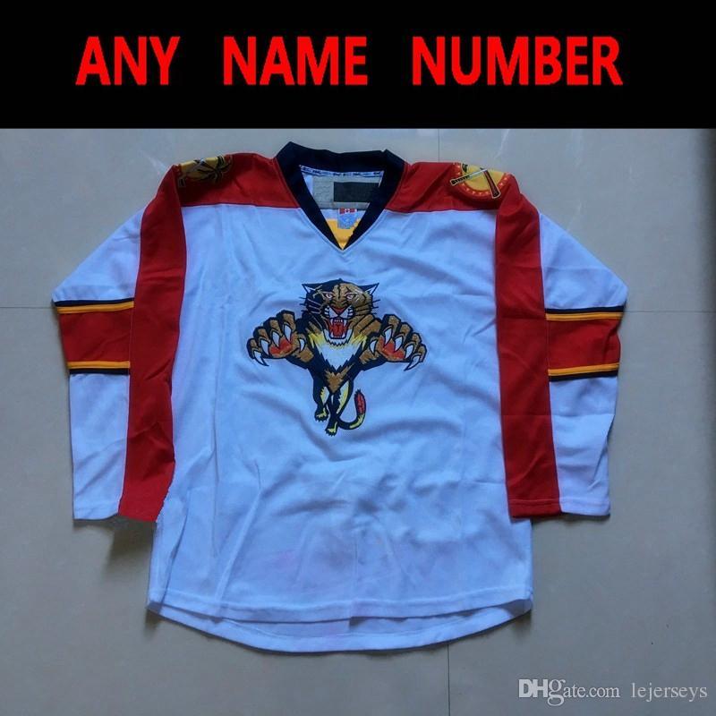 e083ffa9a 2019 Florida Panther Hockey Jerseys Blank White Customied Jerseys Any Name  Number Vintage S M L XL XXL XXXL From Lejerseys