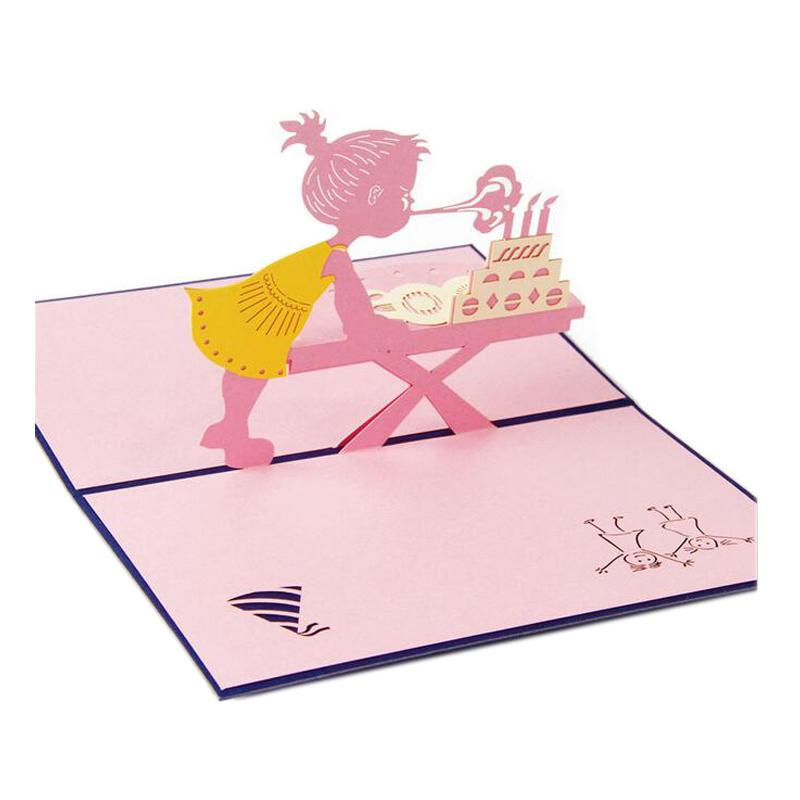 Wholesale hot sale greeting cards with envelope pop up 3d card wholesale hot sale greeting cards with envelope pop up 3d card beautiful foldable cut paper creative handmade girl children birthday gift funny greeting m4hsunfo