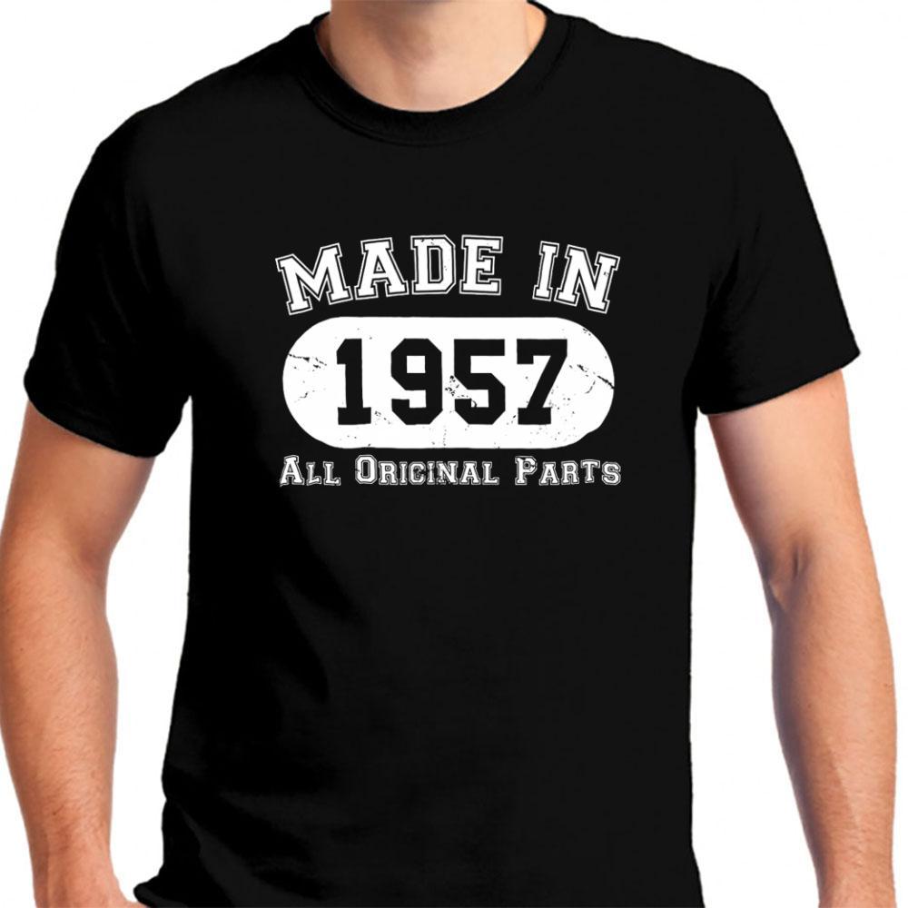 Grosshandel Neue 60th Birthday Gifts Made 1957 Alle Original Herren T Shirt Kleidung Grosse S 3xl Von Hotselltshirt 1156 Auf DeDhgateCom