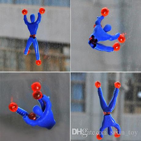 New Arrival Funny Novelty Sticky Wall Climbing Flip Spiderman Climber Classic Kid's Toys Random Color Children Gift Toys