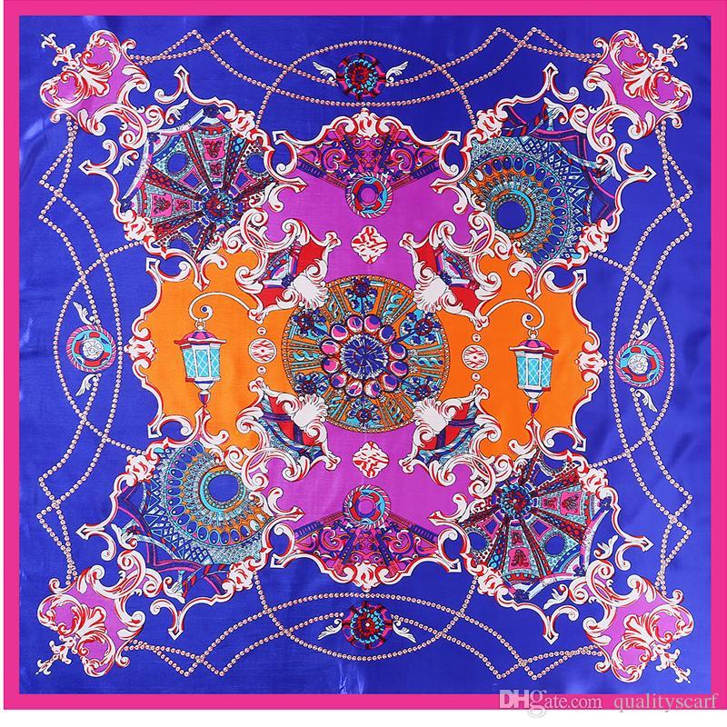 71ccf39136268 Luxury Brand Women Ethnic H Silk Print Bandana Large Scarfs for ...