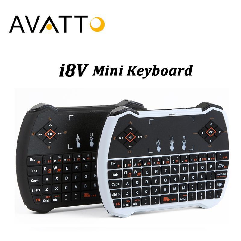 62a46f12187 AVAO Russian/English I8V Mini Keyboard with 2.4G WirelessTouchpad ...
