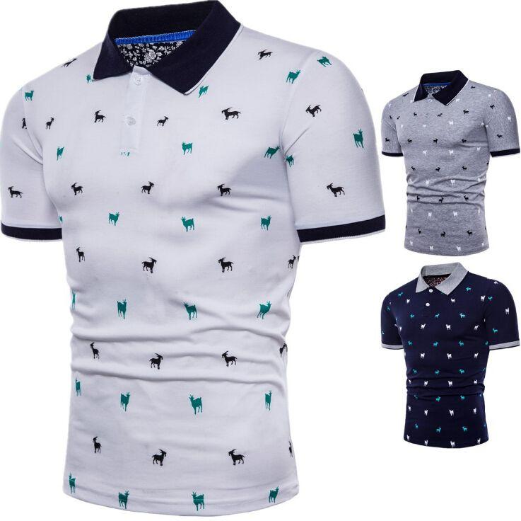 2018 Eur Size Mens Short Sleeve Shirt New Summer Goat Sewing Pattern ...