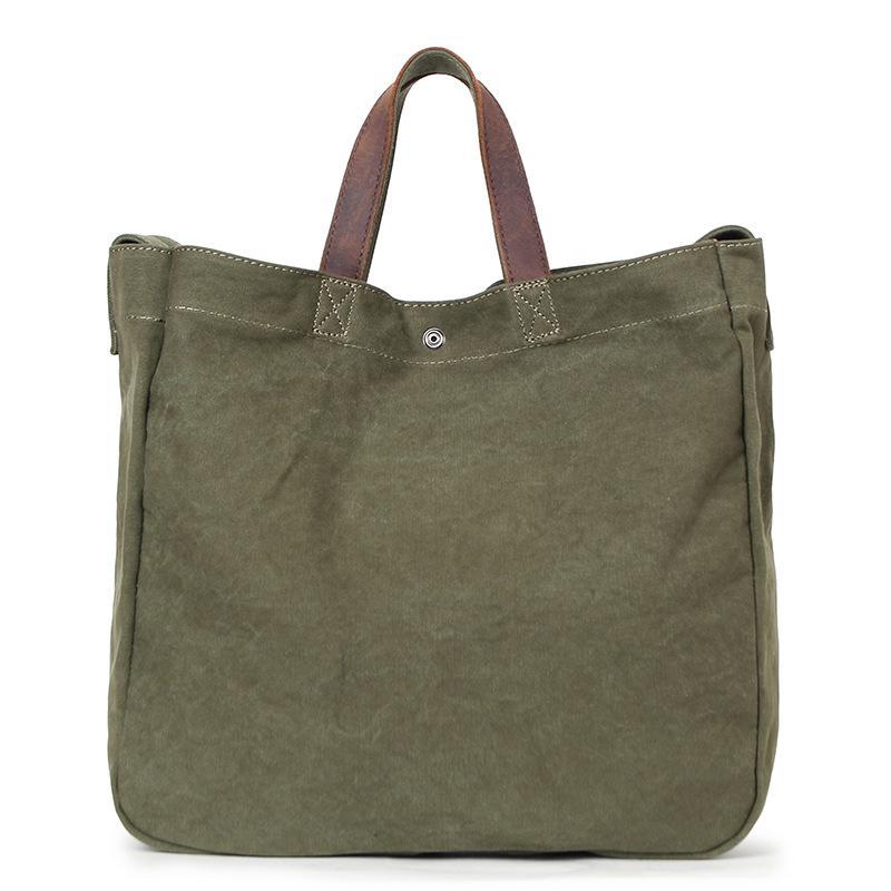 47940036e2 Simple Design Army Green Canvas Handbag Large Capacity Casual Tote For  Women   Men Shoulder Bag Messenger Crossbody Bags G026 Black Handbags  Handbags ...