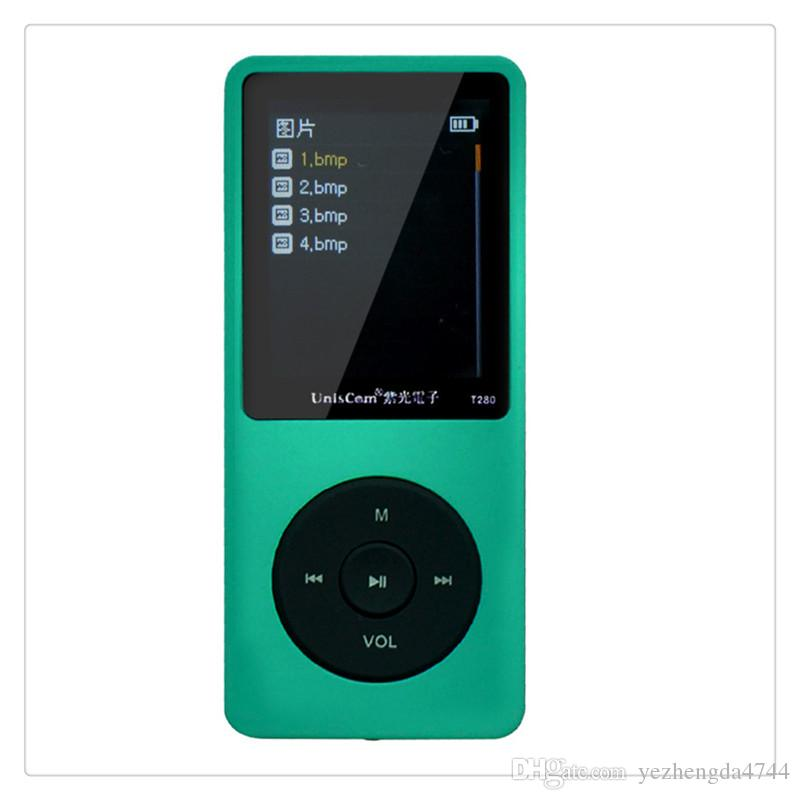 1.8 Inch Screen Lossless HIFI MP3 Music Player FM Recording Pen Sports Walkman Black Pink Green Blue Yellow Hot Sale