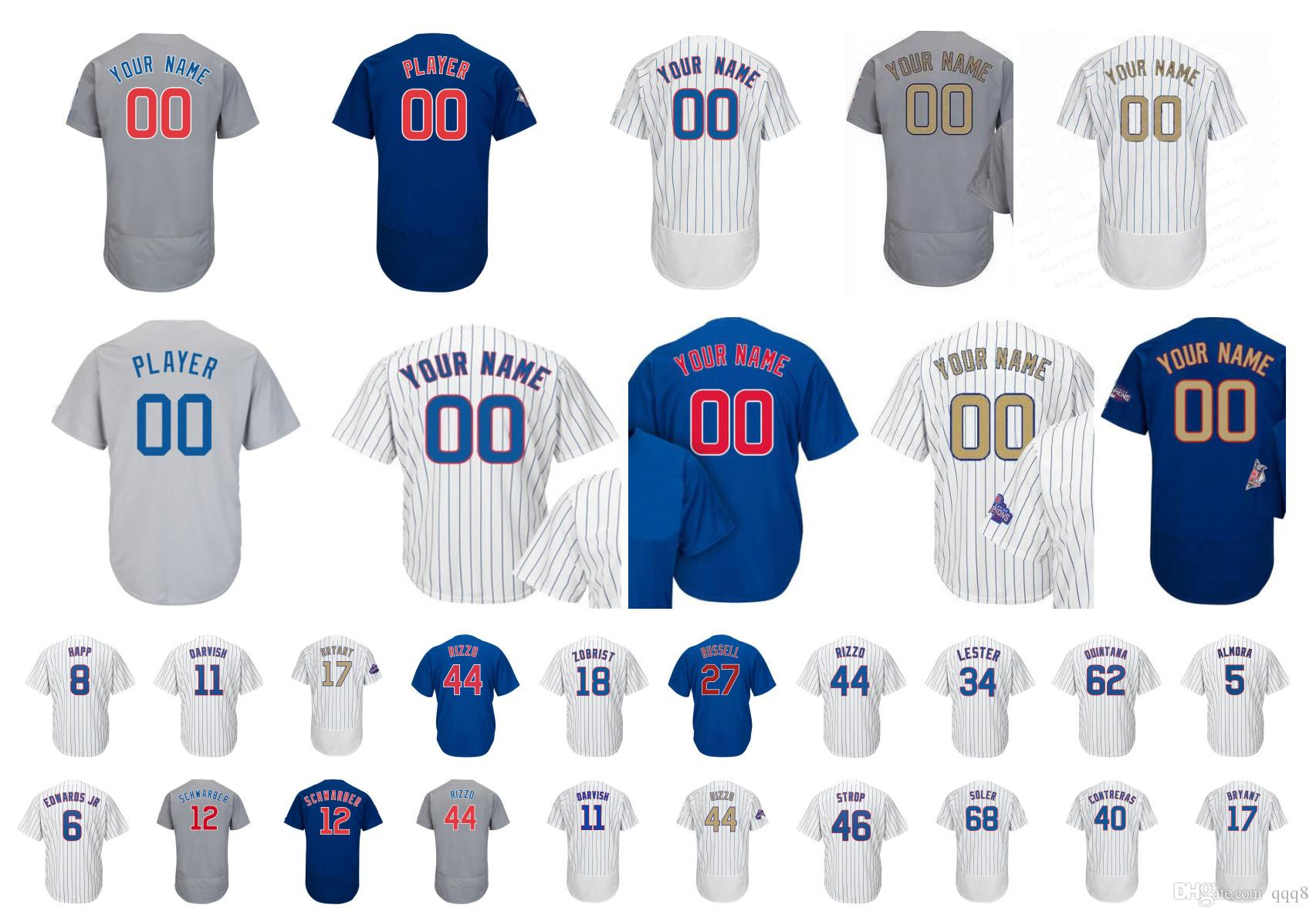 3f364b910 Mens Chicago Jersey 44 Anthony Rizzo 9 Javier Baez 12 Kyle Schwarber ...