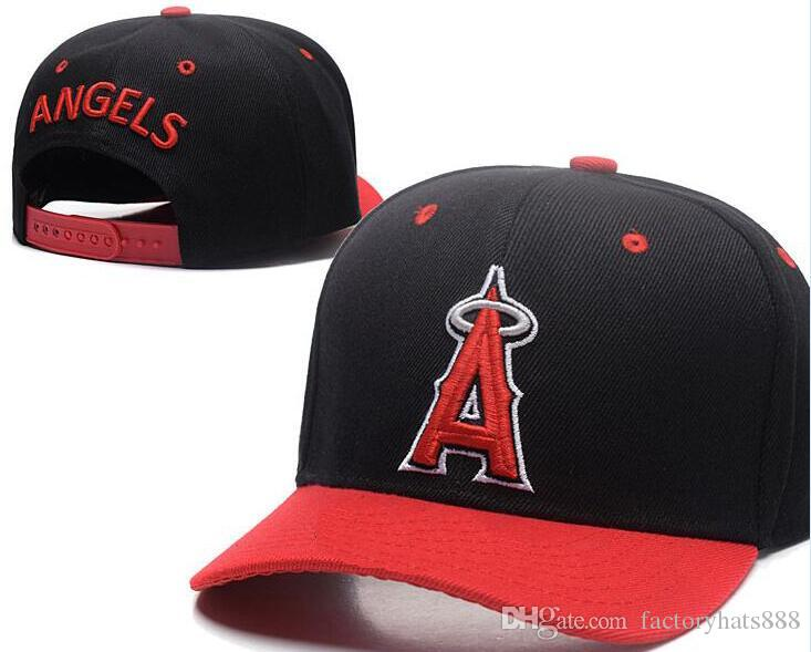 89bc8b00a48 2018 Sports Angels Hat Baseball A LOGO Cap Embroidery Thounds Styles Outlet  Snapback Snap Back Adjustable Snapbacks Sport Hat Drop Ship Angels Hat  Angels ...