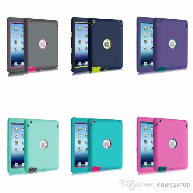 For Apple ipad 2 3 4 5 6 case Amor Heavy Duty Drop resistance Shock Proof tablet Case for IPAD MIMI 1 2 3 IPAD MINI 4