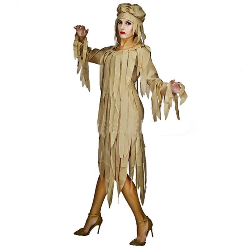 1e36365bec433f Alta qualidade new Halloween costume party Halloween party dress horror  feminino traje gótico masquerade múmia cadáver seco