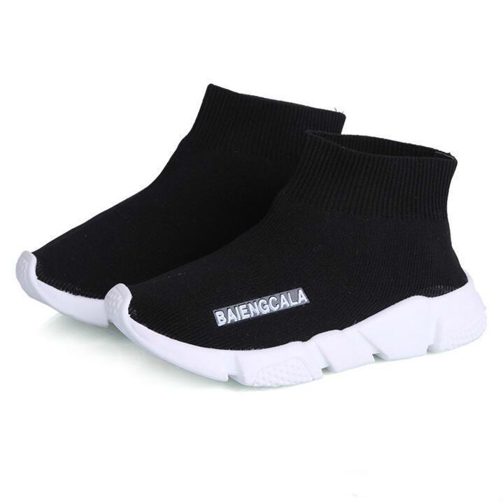 sports shoes 8676e de3a0 Compre Niños Niños Zapatos Bebé Corriendo Zapatillas Botas Niño Niño Y  Niñas De Lana De Punto Calcetines Atléticos Zapatos Envío Gratis A  13.2  Del Wangfa88 ...