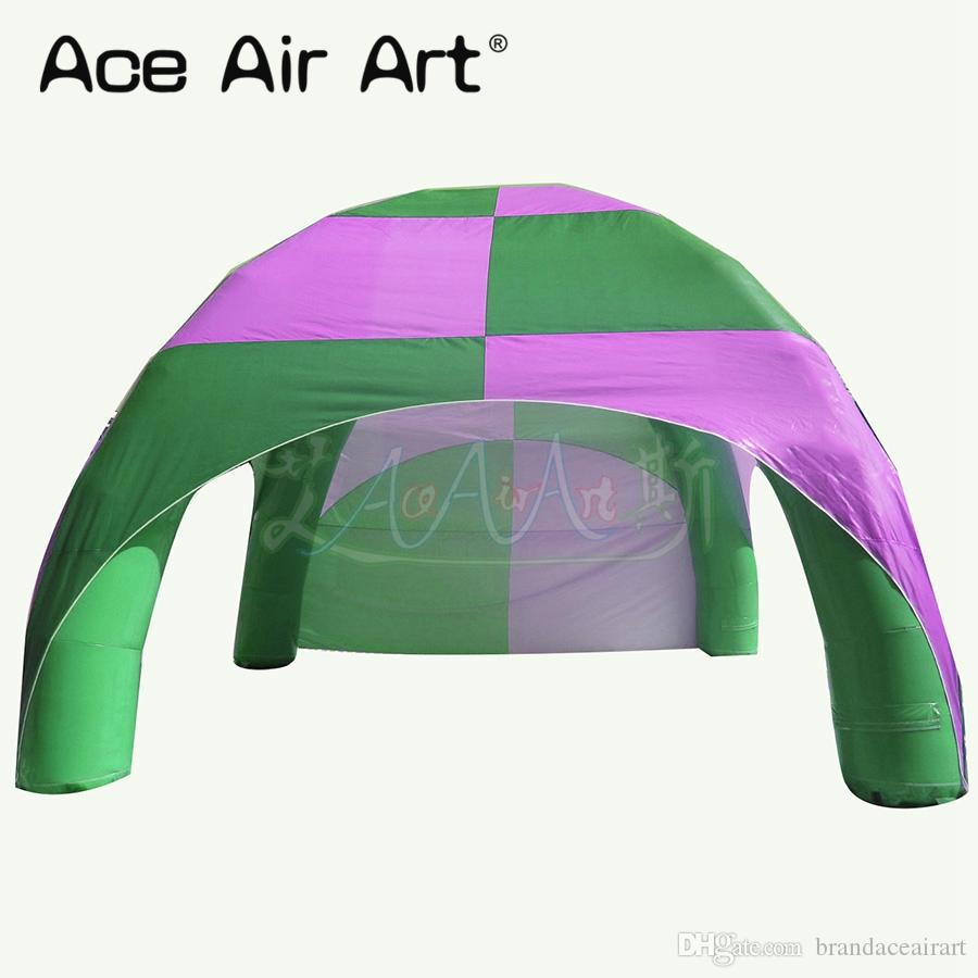 Pink and green color inflatable spider tent/inflatable event stations,air dome without lights for advertising/activity