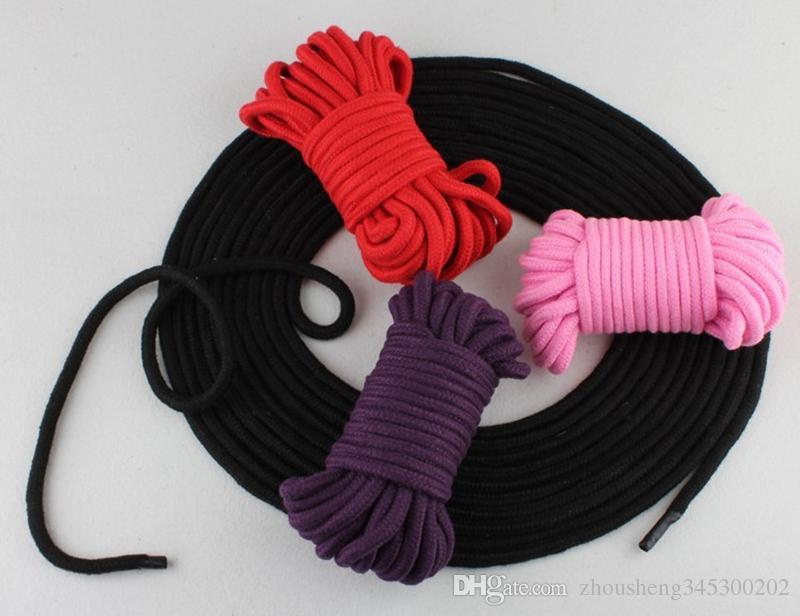 2 teile / los 5 mt 10 mt Lange Baumwollseil Weiche Bound Bondage Popes BDSM Spiel Sex Spielzeug SM Produkt für Paare Erwachsene