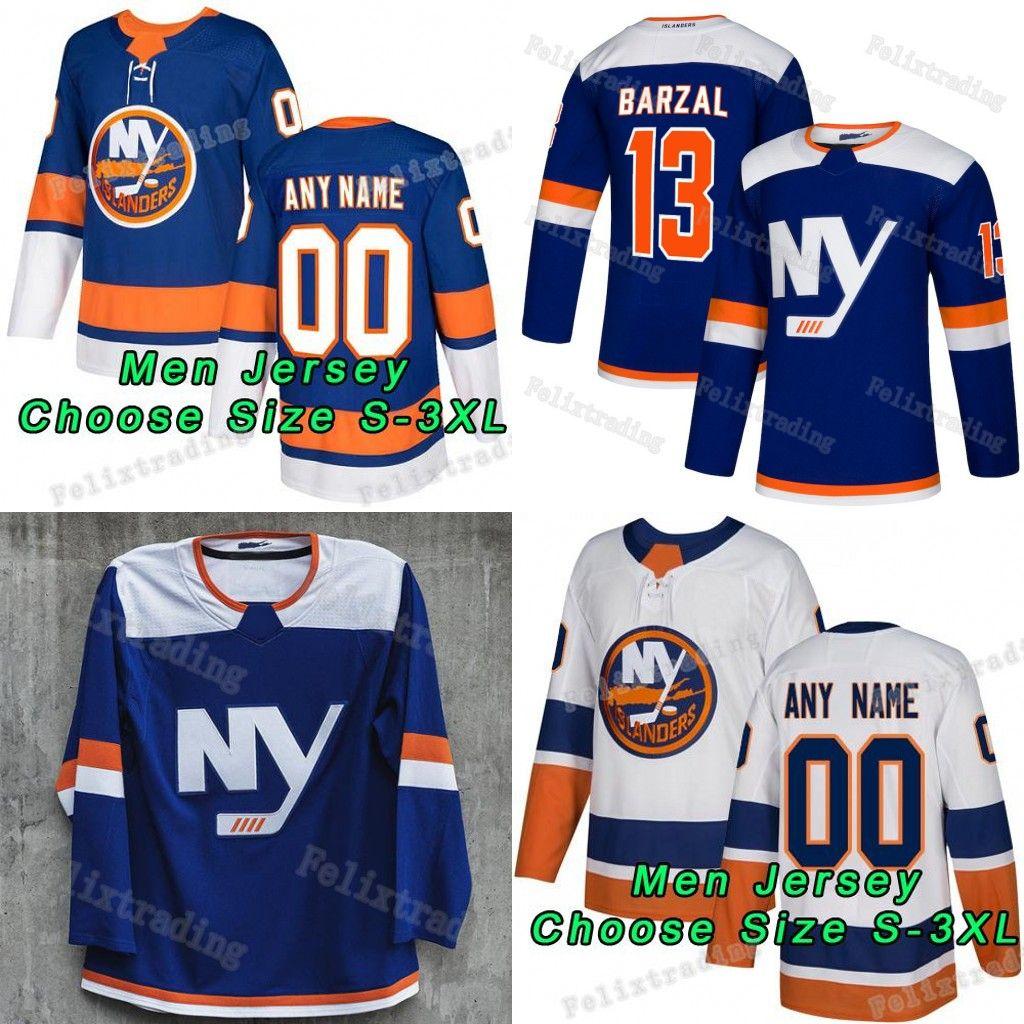 7a944b8cb 2018-19 Season Custom Mathew Barzal Leo Komarov Josh Bailey Josh Ho ...