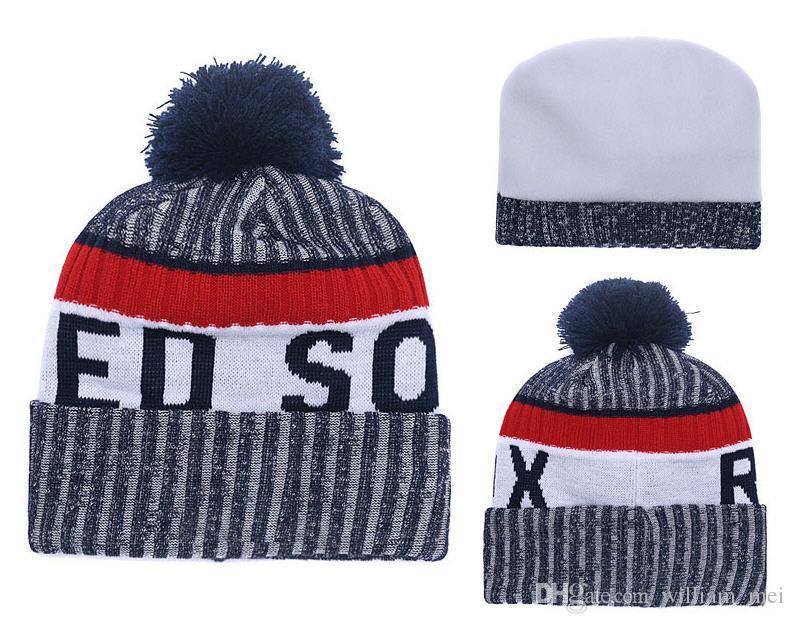 2f3bda23e22 2019 Hot Sell SOX Winter Beanie Knitted Hats All Teams Baseball Football  Basketball Beanies Sports Team Women Men Popular Fashion Winter Hat DHL  From ...