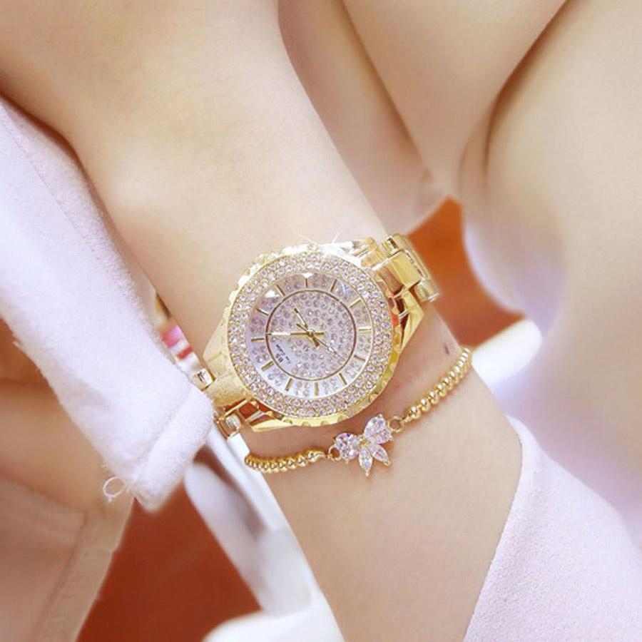 13264d0fd9a6 Compre Las Mejores Marcas De Relojes De Lujo Para Mujer De Acero Inoxidable Reloj  Mujer Relojes De Pulsera De Diamantes De Imitación De Cristal Starlight ...