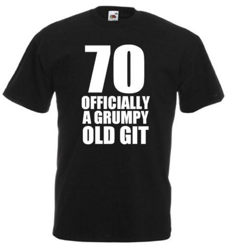 70 Officially T Shirt 70th Birthday Gifts Presents Ideas For Men Dad Grandad Hilarious Shirts Funky Online From Geckotees 1101
