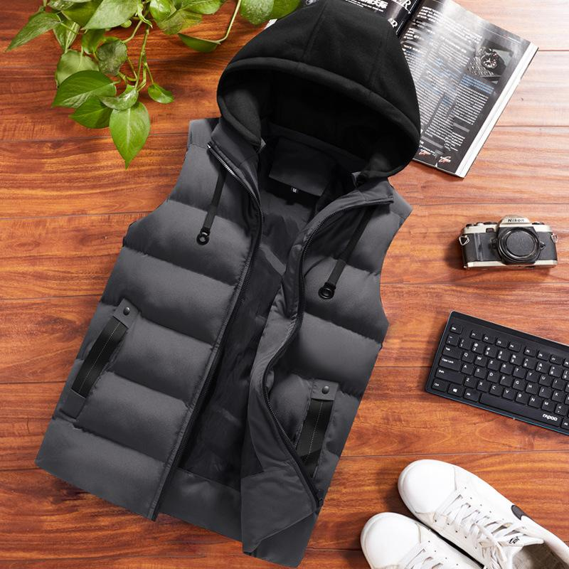 12214826077 Cotton Radded Vest New Autumn Winter Fashion Jacket Casual Male Handsome  Thick Jacket Men Fashion Plus Size MLXL2XL3XL4XL5XL6XL Parkas Cheap Parkas  Cotton ...