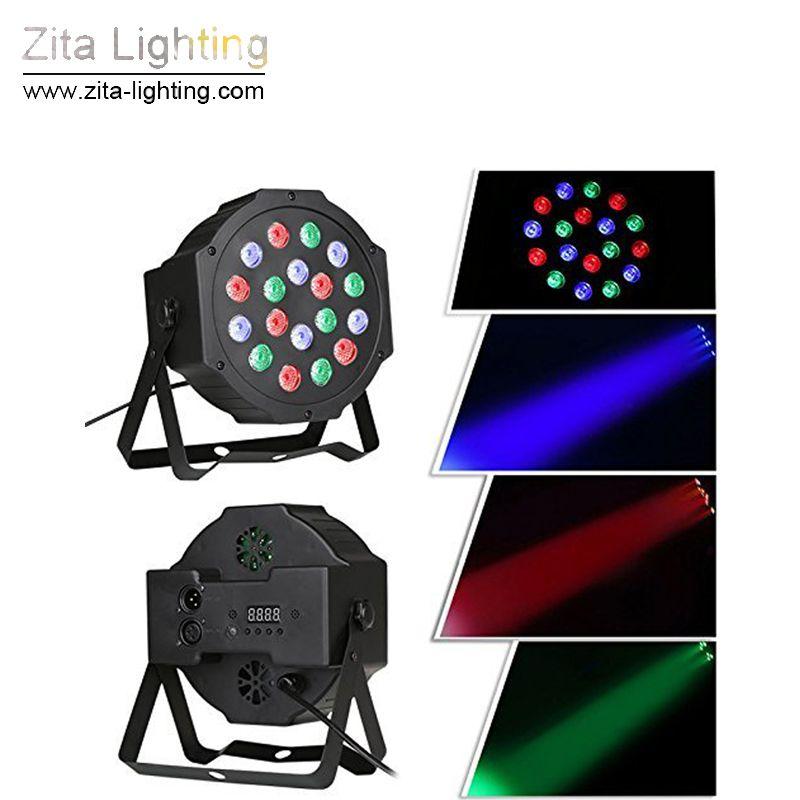 Zita Lighting 54W 18X3W Led Par Lights RGB Iluminación de escenario DMX512 Led Lights para fiesta KTV Disco DJ Lighting AC 85-265V Efecto de fiesta