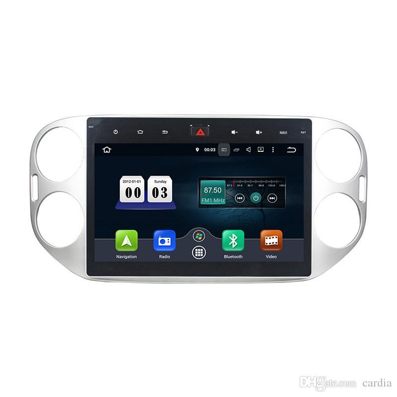 Araba DVD oynatıcı için Volkswagen Tiguan 2015 Octa 10.1 inç andriod 8.0 ile GPS, direksiyon kontrolü, Bluetooth, Radyo