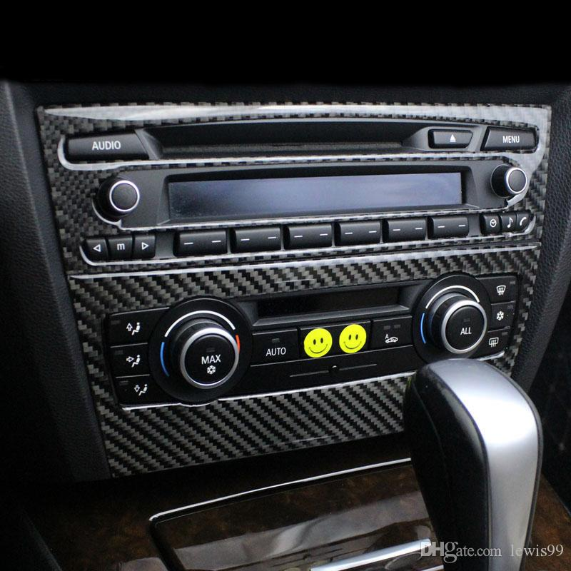 7bfb0d244bf 2019 For BMW E90 E92 E93 Interior Trim Carbon Fiber Air Conditioning CD  Control Panel Decoration Cover Car Styling 3 Series Auto Accessories From  Lewis99