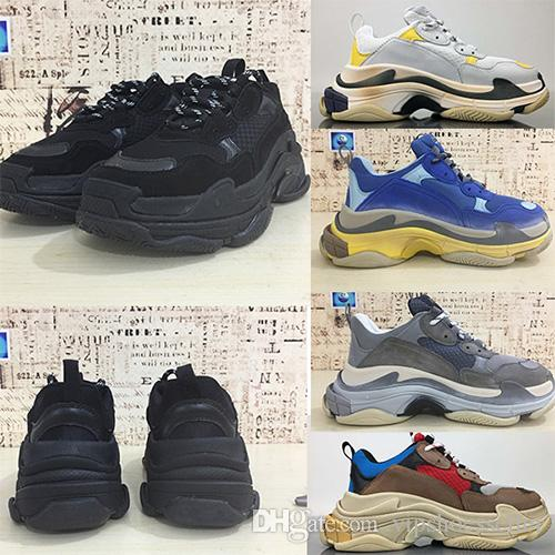 New Triple S Shoes Men Women Sneaker High Quality Mixed Colors Thick Platform Old Dad Trainer Triple-S Casual Shoes With Elevator Shoes