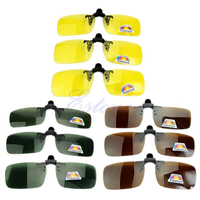 19872ec473 2017 Polarized Day Night Vision Clip On Flip Up Lens Sunglasses Driving  Glasses JUN20 Riding Glass Riding Glasses From Mumianflo
