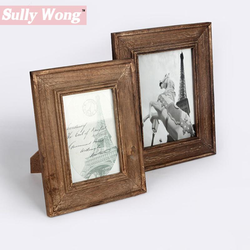 Sully Wong Zakka Style Wooden Table Vintage Frame for Family And ...