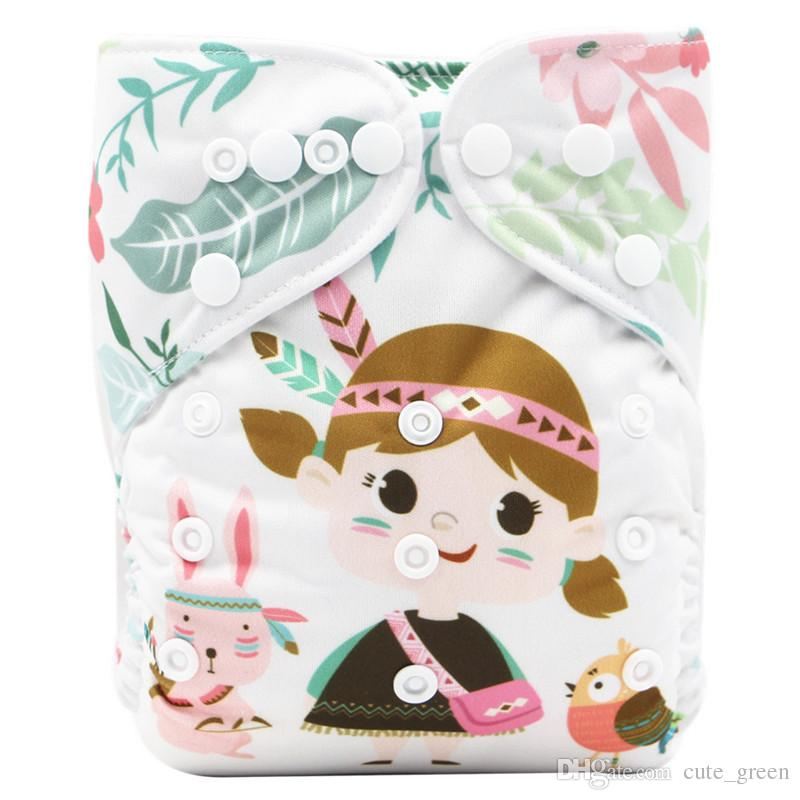 269894004 2019 Baby Cloth Diapers Newborn Pocket Positioning Printed Diaper ...