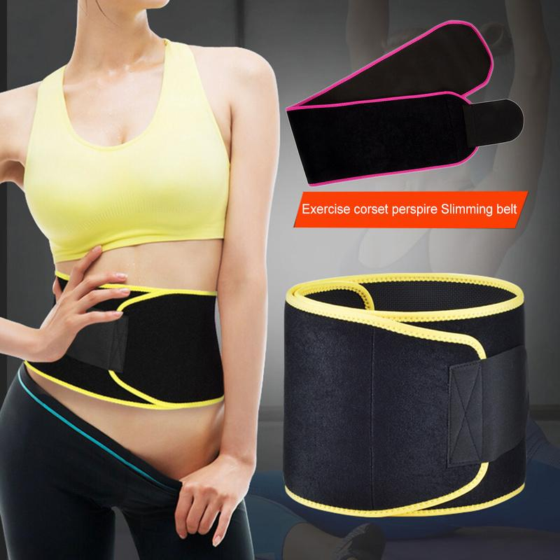 60510bbb361 Adjustable Waist Tummy Trimmer Slimming Sweat Belt Fat Burn Shaper Wrap  Band Weight Loss Exercise Back Support For Lift UK 2019 From Miaoshakuai