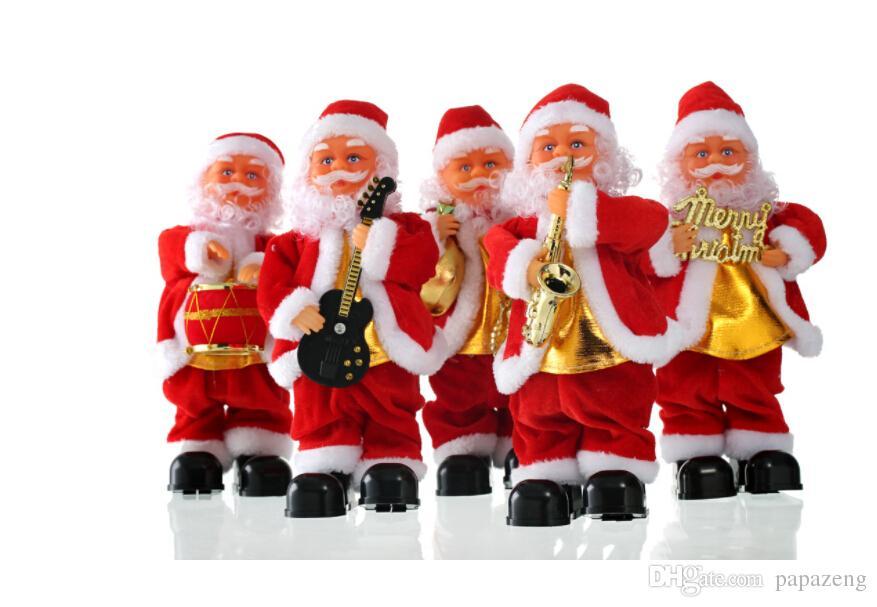 Weihnachten 2019 Musik.2019 Kostenloser Versand Großhandel Schlag Saxophon Weihnachten Musik Alter Mann Elektrische Schritt Weihnachtsschmuck Puppe Kinder Spielzeug
