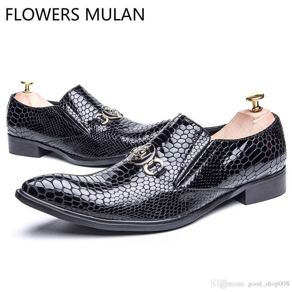 e5fa82a7c 2018 Luxury Designer Italian Fashion Formal Men Dress Shoes Wedding ...