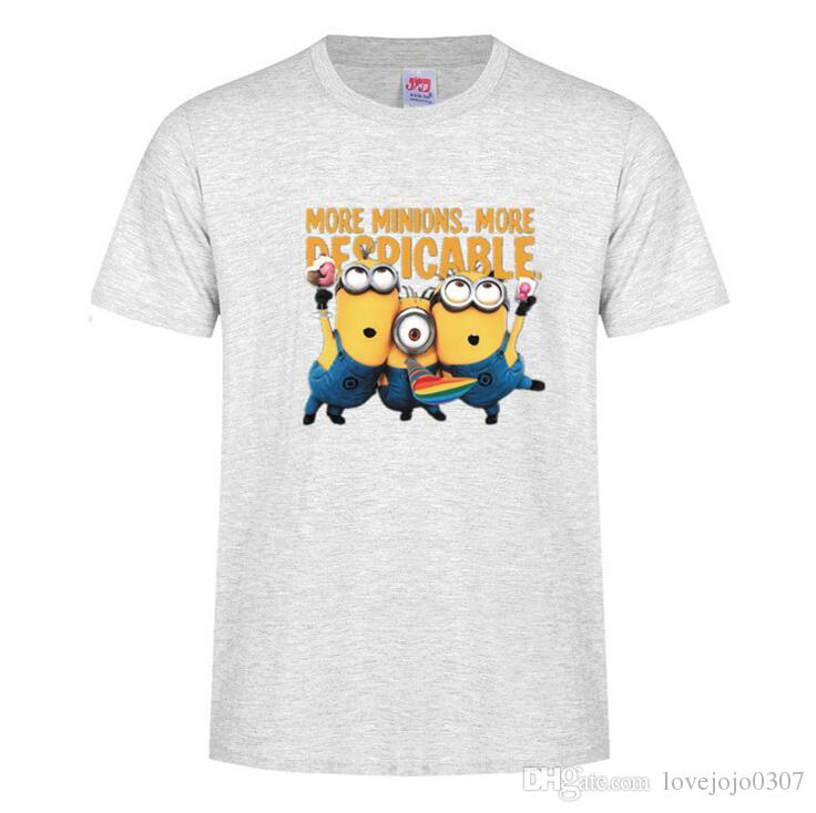 e7a67d55a7b Minion Shirts Funny Cartoon T Shirt Guitar Minions T Shirt Cotton Casual  Mens Women Summer Tops Cute Shirts Tee Shirt D20 Tee S It T Shirts From ...