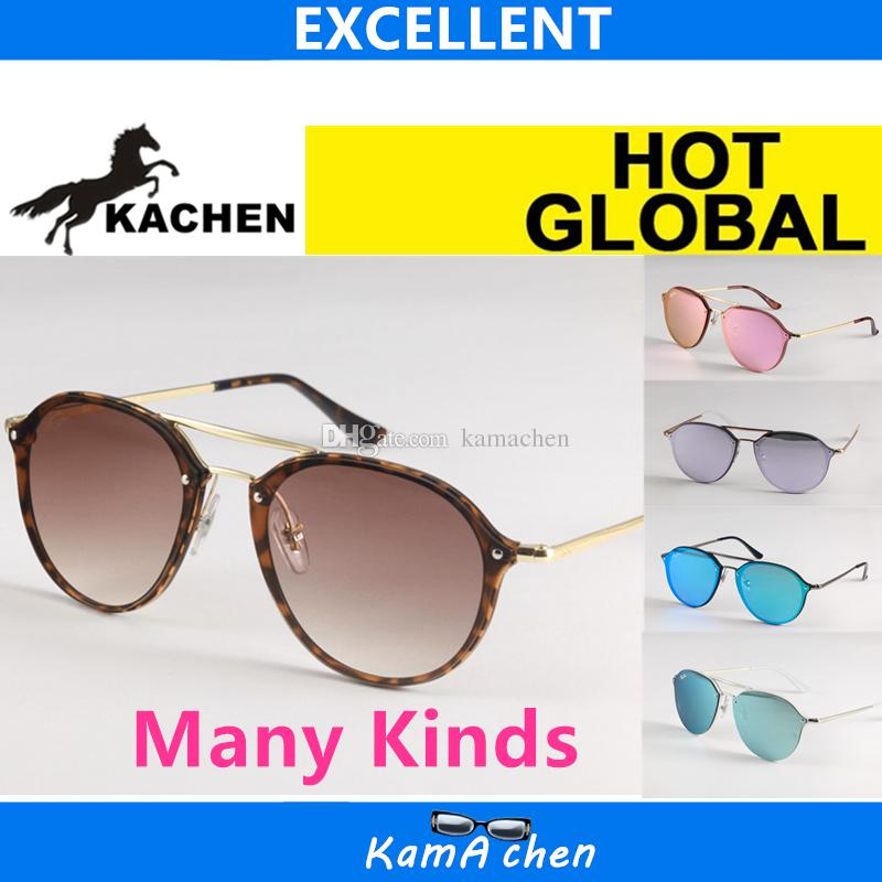 41f24f0c5ed KaChen 62mm Size Resin Lens Blue Pink Gray Lens UV400 N4292 Protection AAA  Quality Sunglasses Glasses KaChen Online with  26.72 Piece on Kamachen s  Store ...