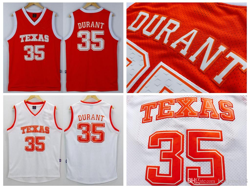 b548304a ... usa ncaa mens texas longhorns 35 kevin durant jersey orange white kevin  durant college stitched basketball