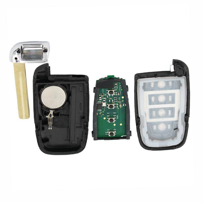 4 Düğme Araba Akıllı Uzaktan Anahtar Kabuk Fob 433 MHz ile Hyundai IX35 I30 ID46 Çip ile Boş Bıçak